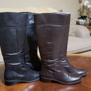 Michelle D leather boots